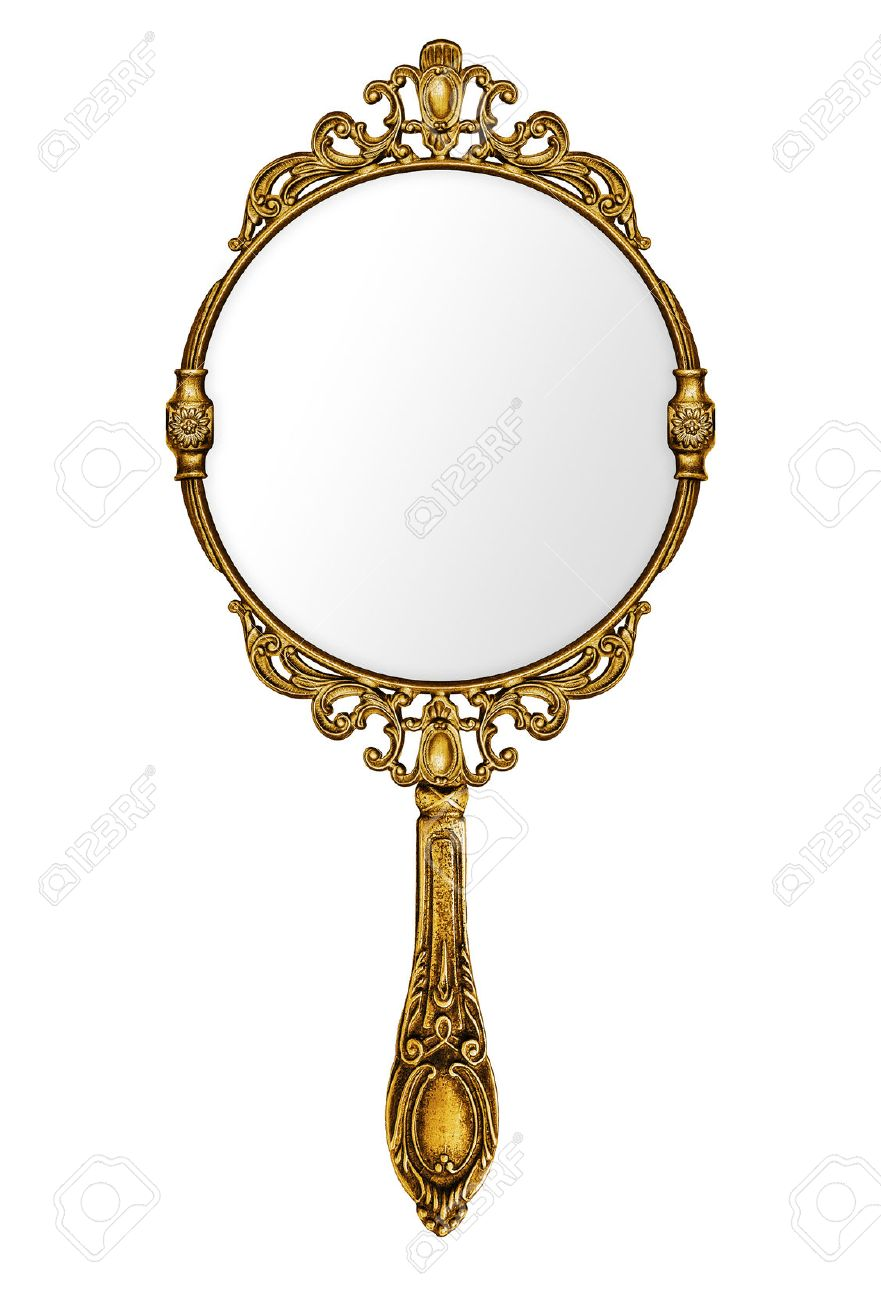Hand mirror Small Stock Photo Vintage Hand Mirror Isolated On White 123rfcom Vintage Hand Mirror Isolated On White Stock Photo Picture And