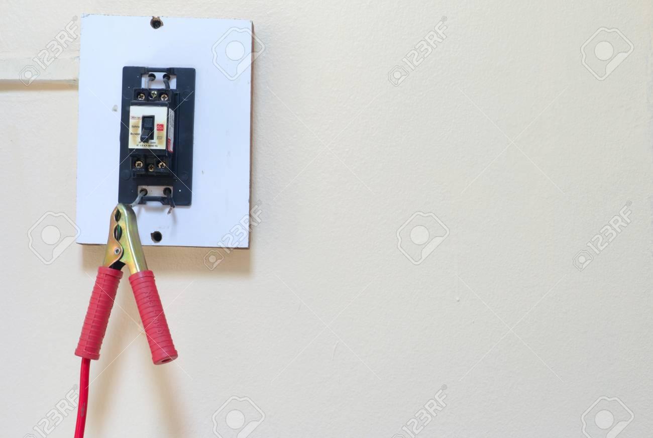Reparatur Und Sanierung Strom Schalter Zu Hause Konzept Durch ...