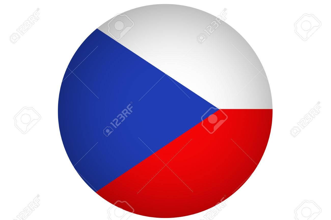 Czech Republic Flag 3D National Illustration Symbol Stock