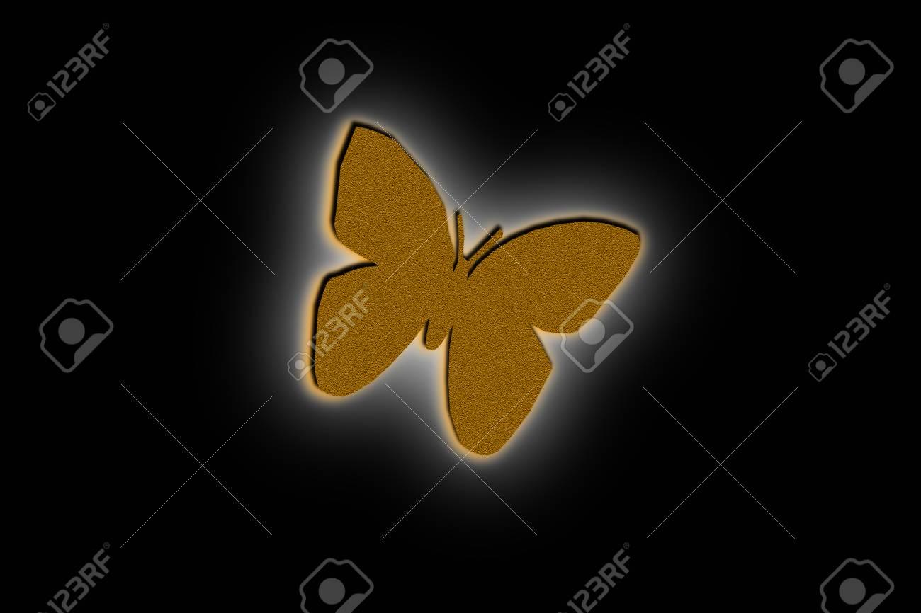 Diseño De Ilustración De Mariposa En El Fondo Negro Fotos, Retratos ...