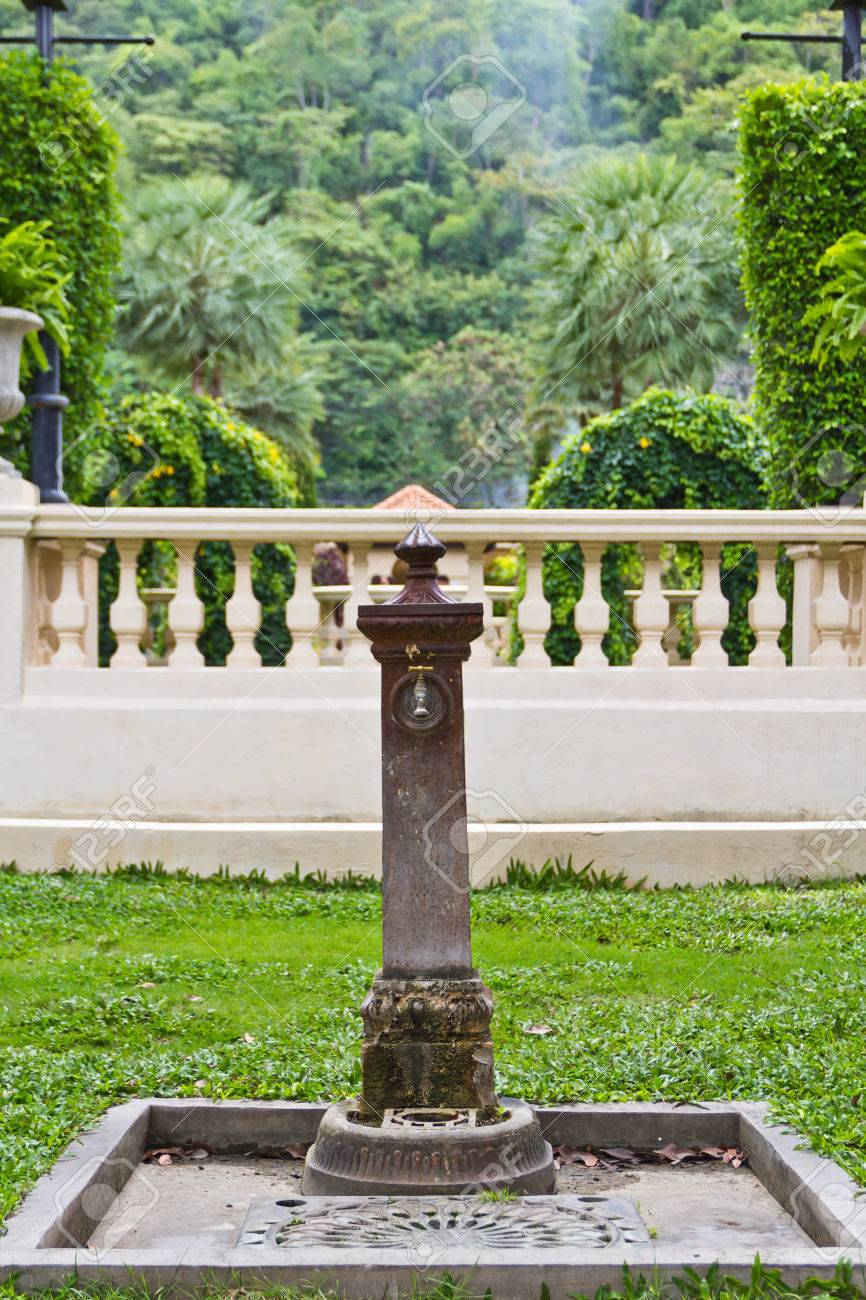 Ancient Decorative Garden Faucet Stock Photo, Picture And Royalty ...