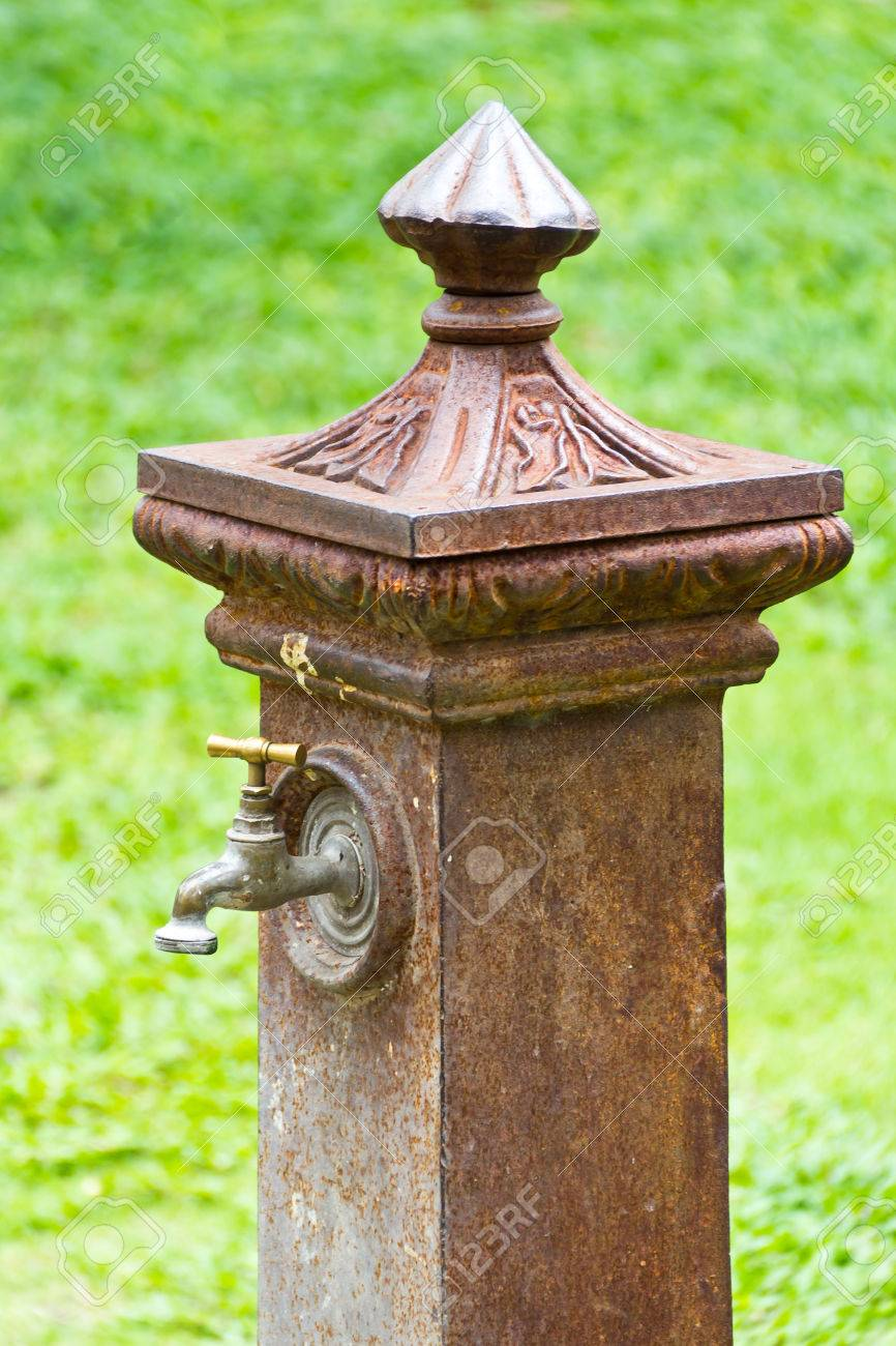 Ancient Decorative Garden Faucet Stock Photo Picture And Royalty