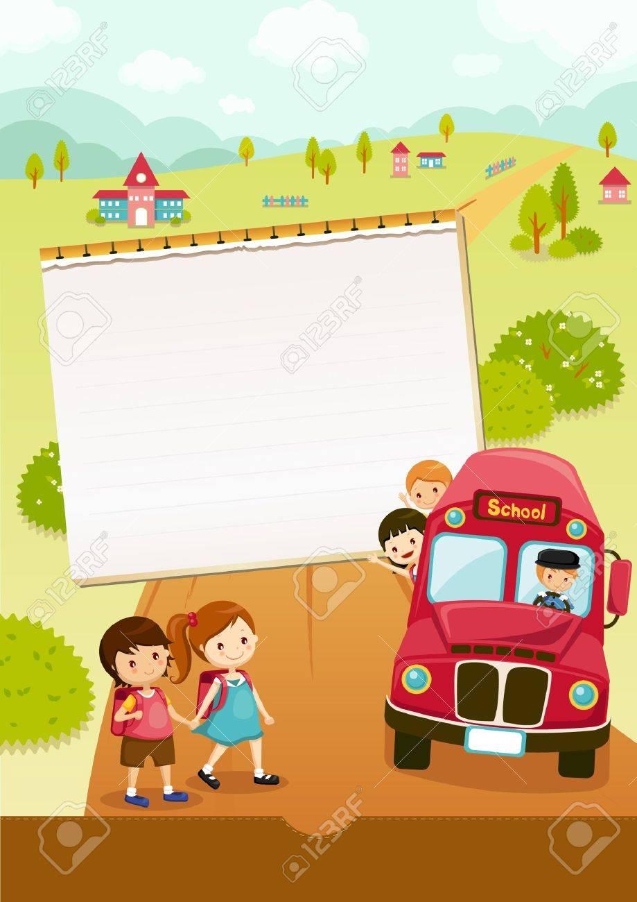 Go to school, school bus Stock Vector - 21045252