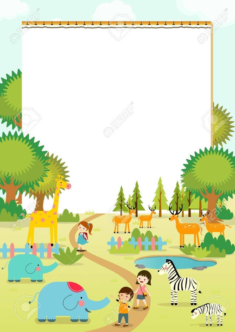 nootbook ベクトル イラスト動物園への遠足 ロイヤリティフリークリップ