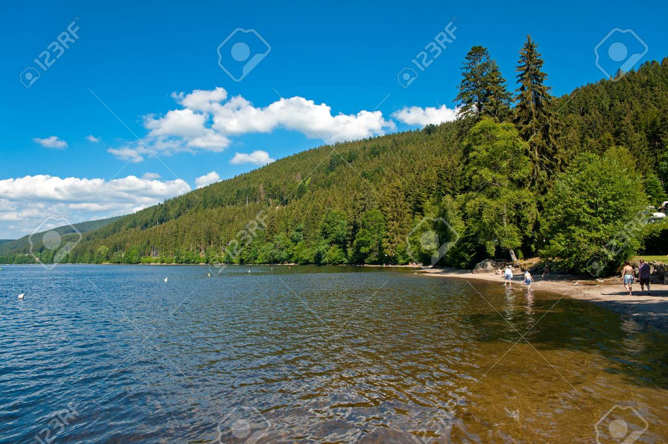 Beach At The Lake Titisee Black Forest Baden Wuerttemberg Stock Photo Picture And Royalty Free Image Image 49459729