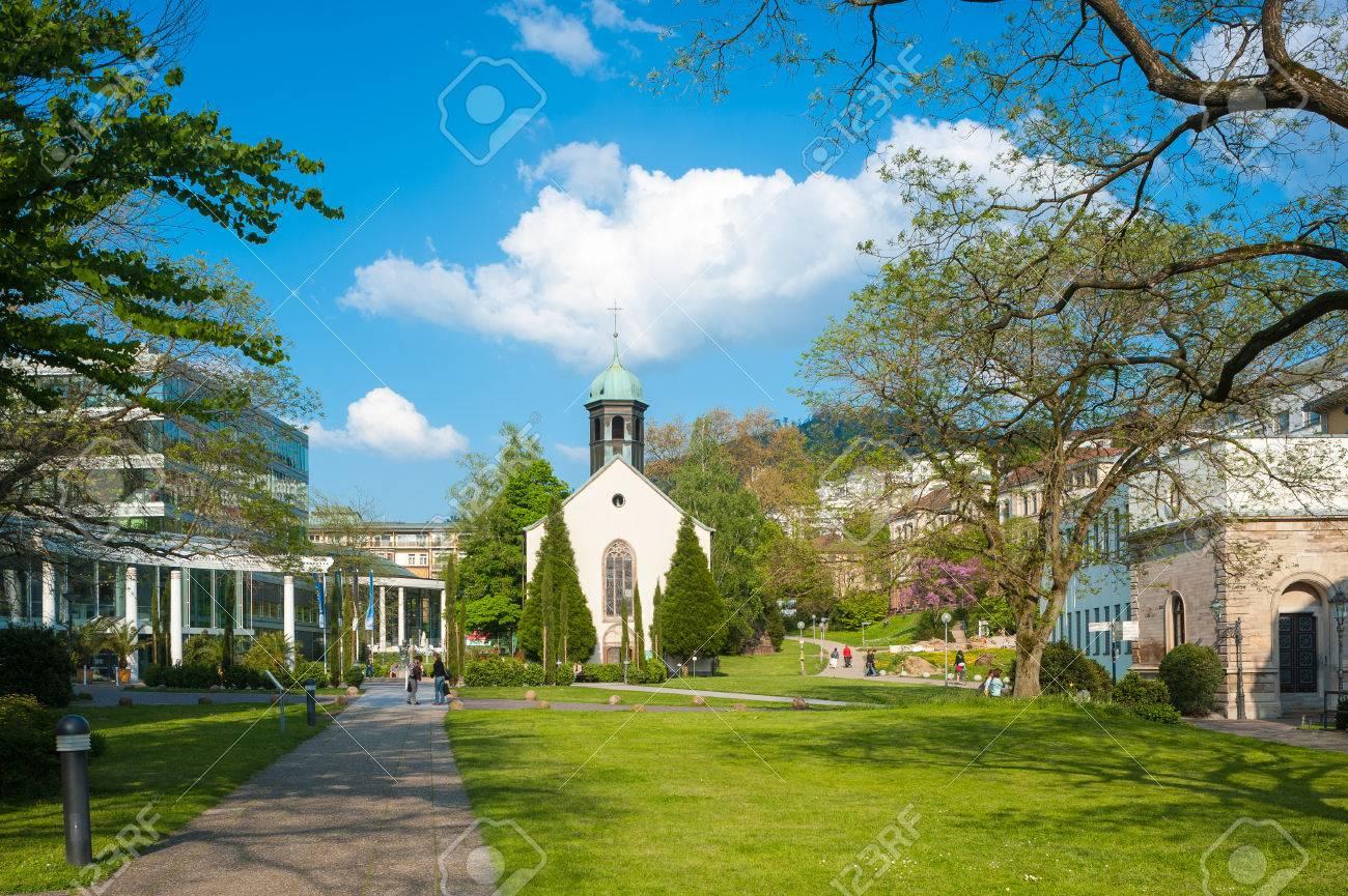 Caracalla Therme With Spital Church Baden Baden Black Forest