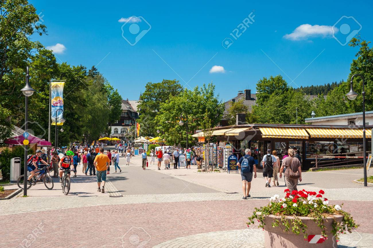 The Promenade In Titisee Neustadt Black Forest Baden Wuerttemberg Stock Photo Picture And Royalty Free Image Image 49432537