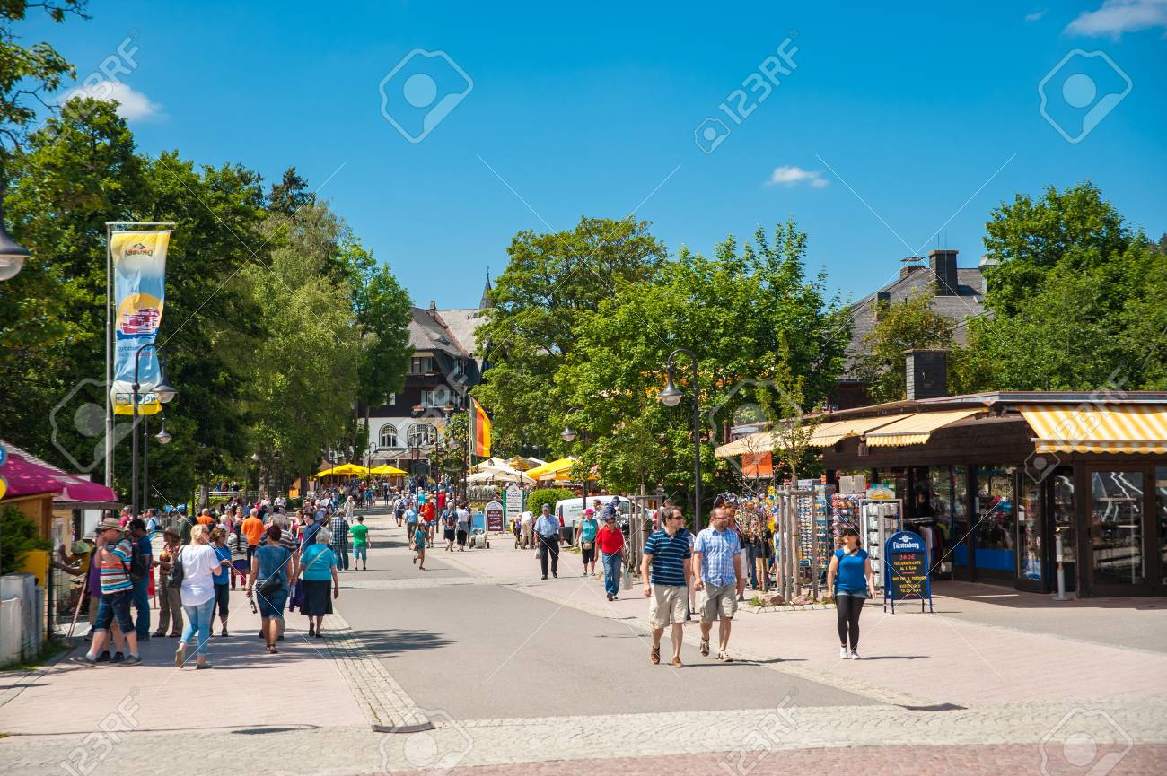The Promenade In Titisee Neustadt Black Forest Baden Wuerttemberg Stock Photo Picture And Royalty Free Image Image 49432574