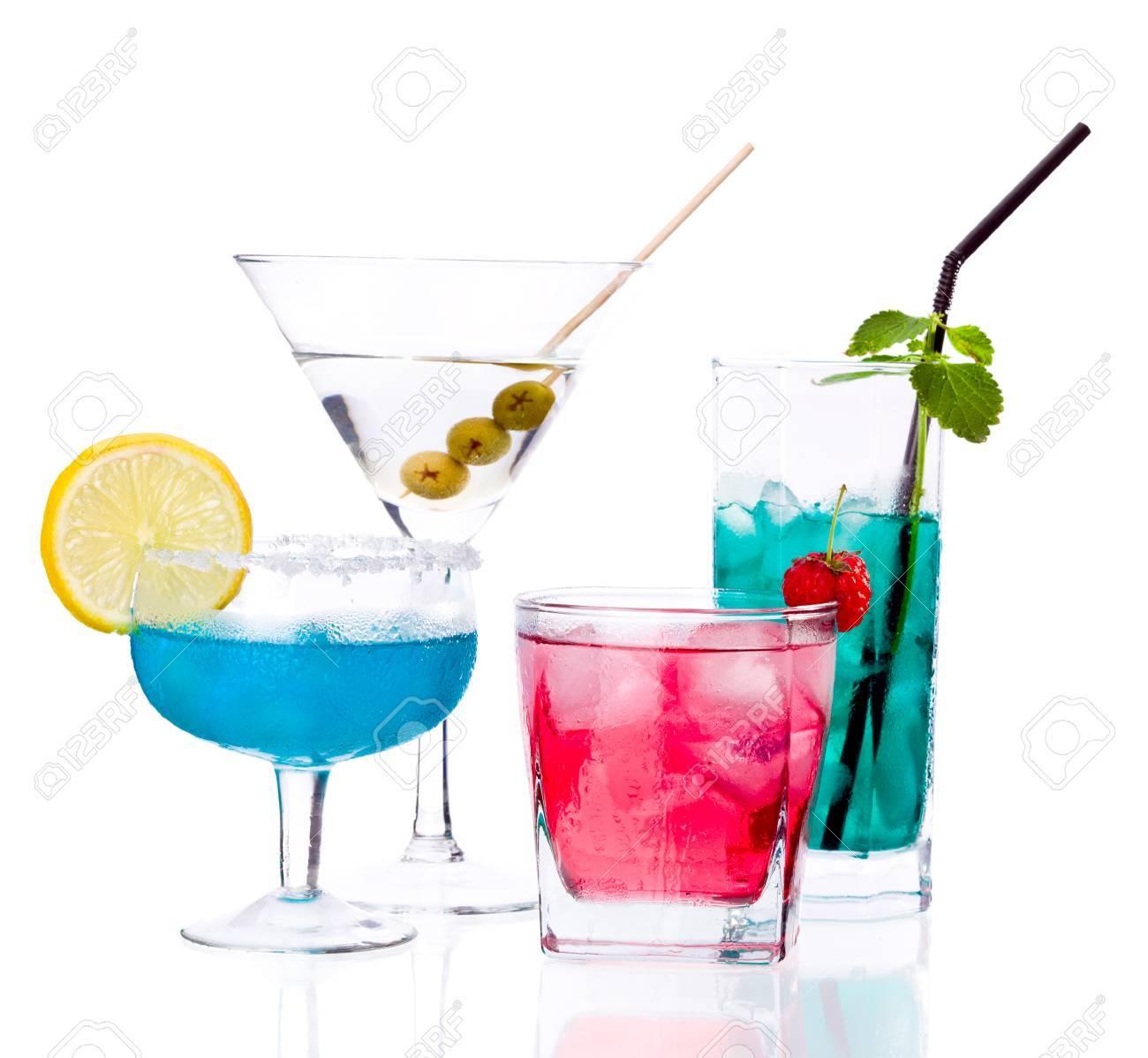 Tropische Getränke Isoliert Auf Weißem Hintergrund Lizenzfreie Fotos ...