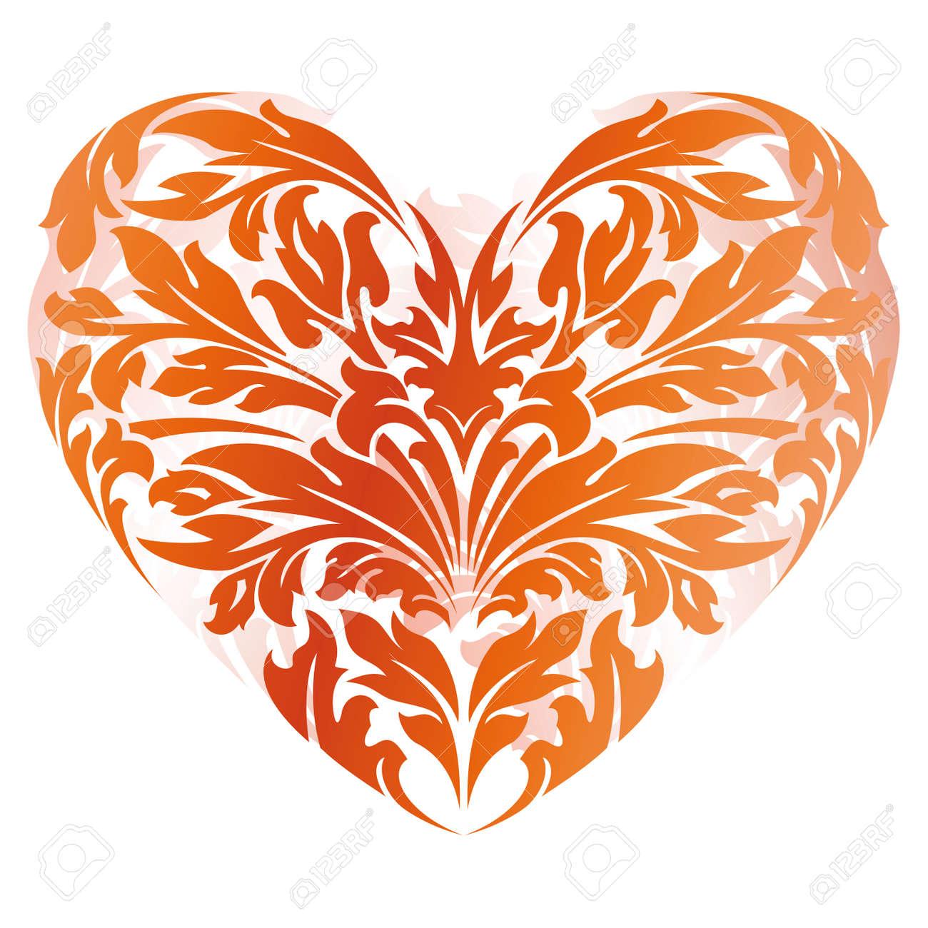 stylized valentine u0027s day heart isolated on white royalty free
