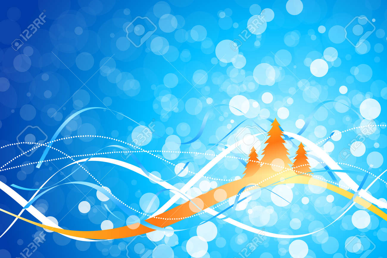 Christmas background with Christmas tree and strips for your design Stock Vector - 8228338