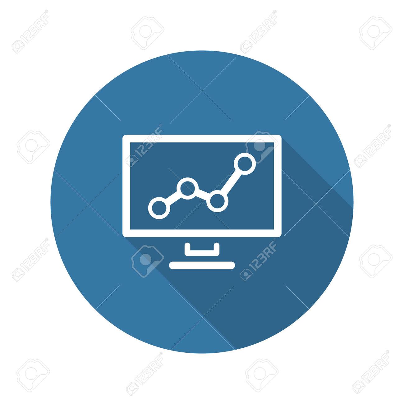 Icone D Analyse Commerciale Concept D Entreprise Design Plat