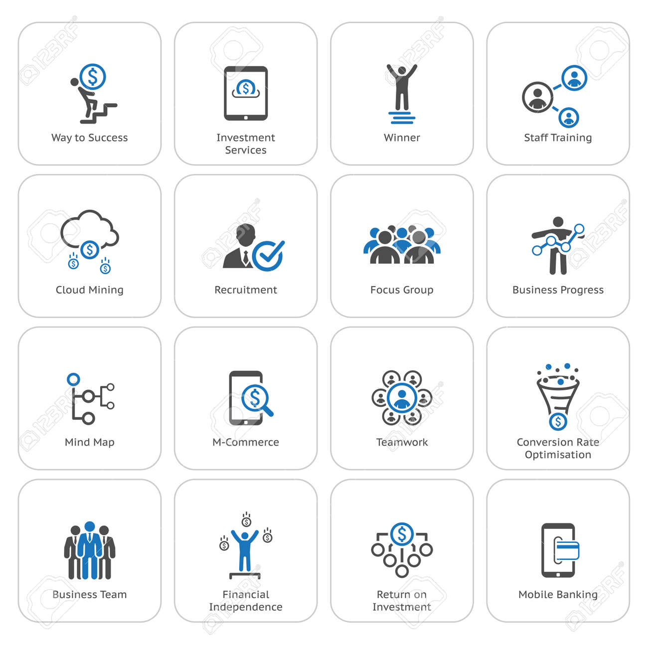 Flat Design Icons Set. Icons for business, management, finance, strategy, planning, analytics, banking, communication, social network, affiliate marketing. - 45248099