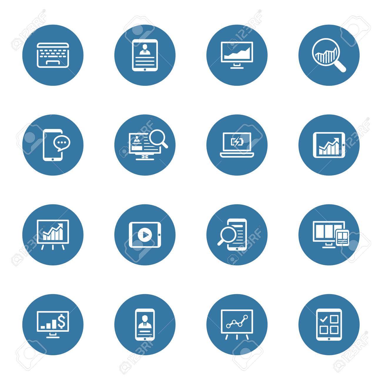 Business and Finances Icons Set. Flat Design. Isolated Illustration. - 45248697