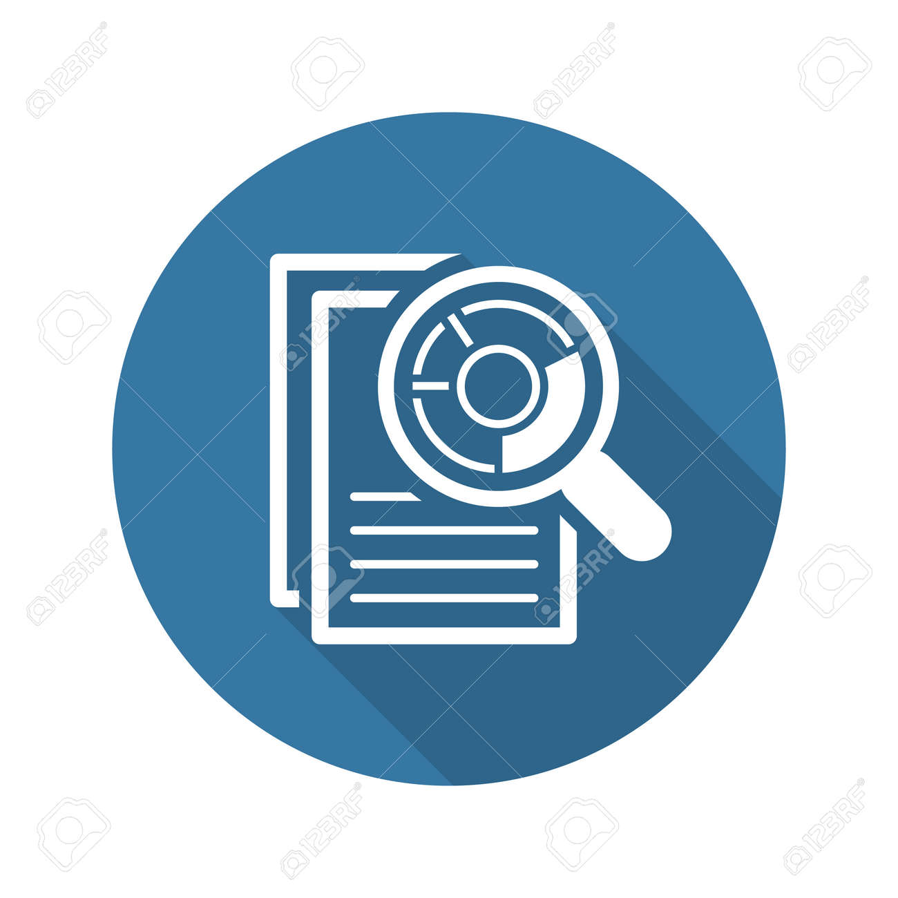 Audit Icon. Business Concept. Flat Design. Isolated Illustration. Long Shadow. - 45248769