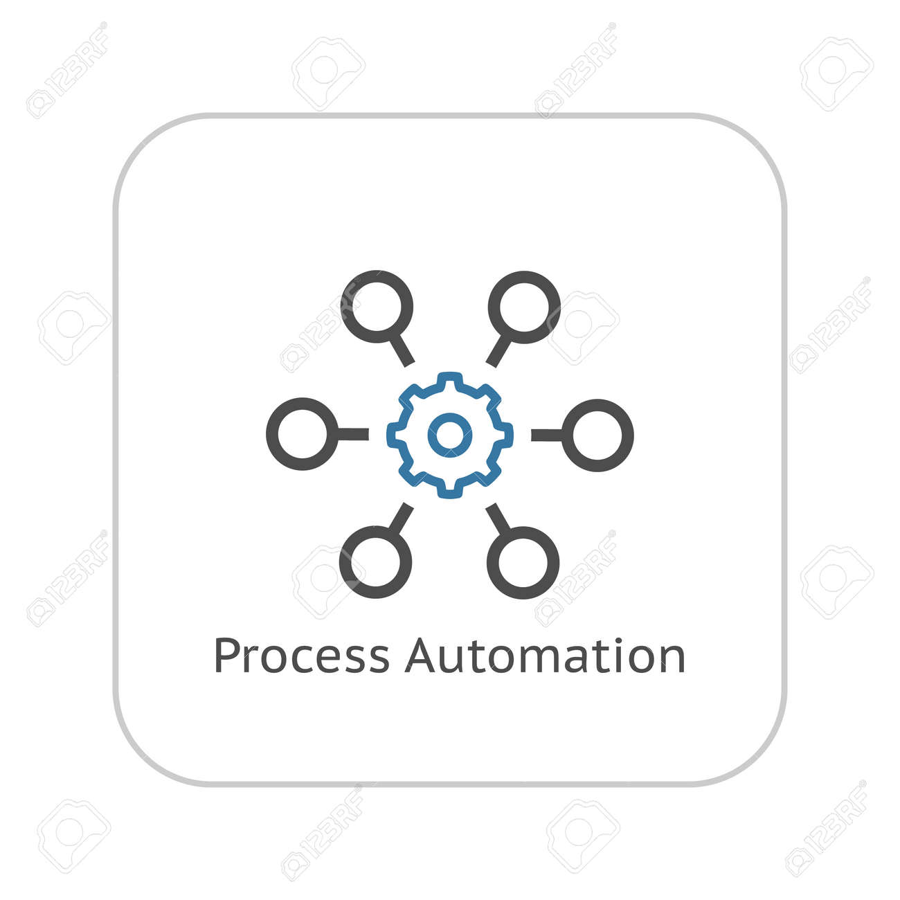 Process Automation Icon. Business Concept. Flat Design.Isolated Illustration. - 46094973