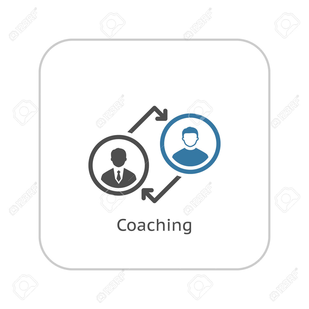 Coaching Icon. Business Concept. Flat Design. Isolated Illustration. - 46095032