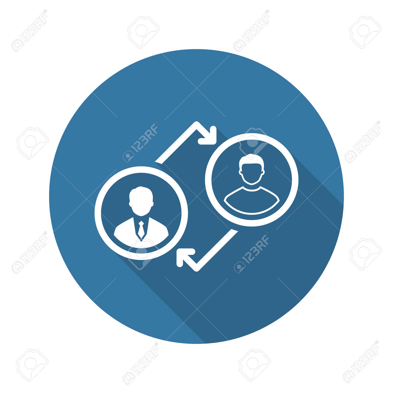 coaching icon business concept flat design isolated illustration