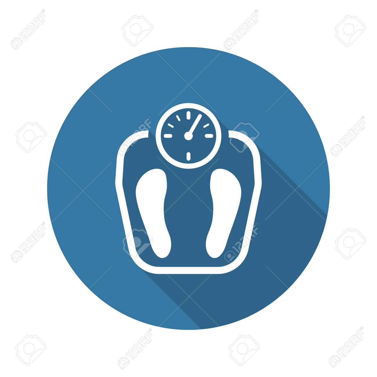 Weight Management Icon with Shadow. Flat Design. Isolated Illustration. - 48456187