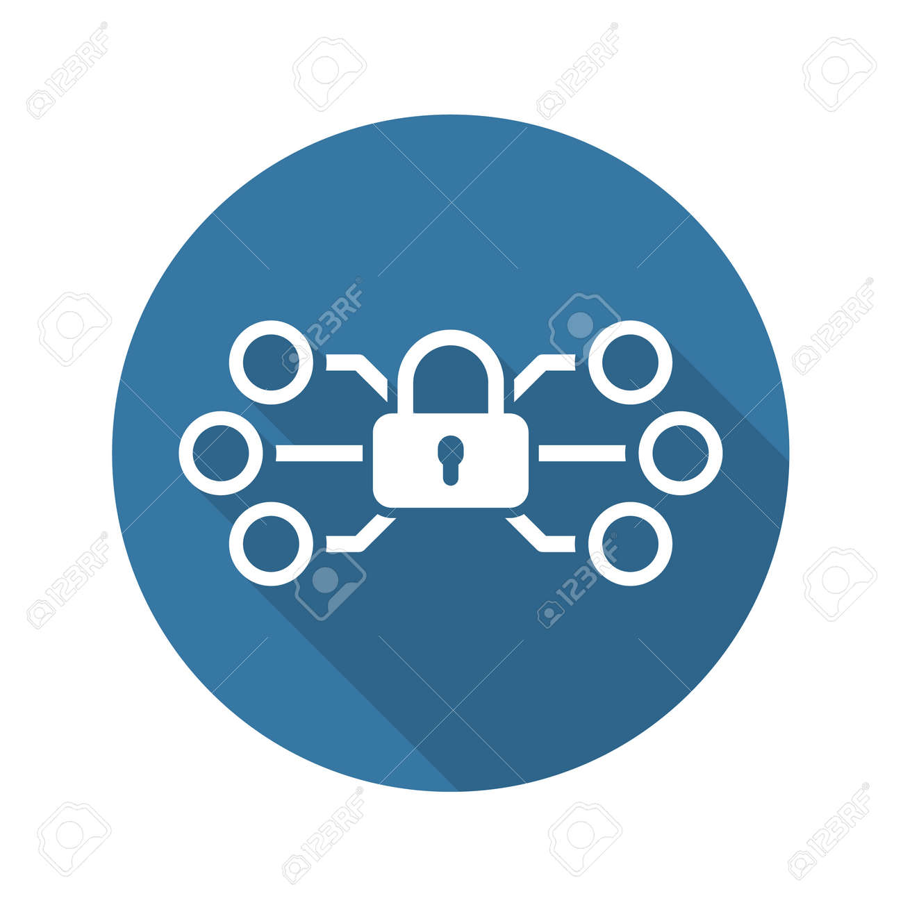 Network Protection Icon. Flat Design. Business Concept. Isolated Illustration. - 48846709
