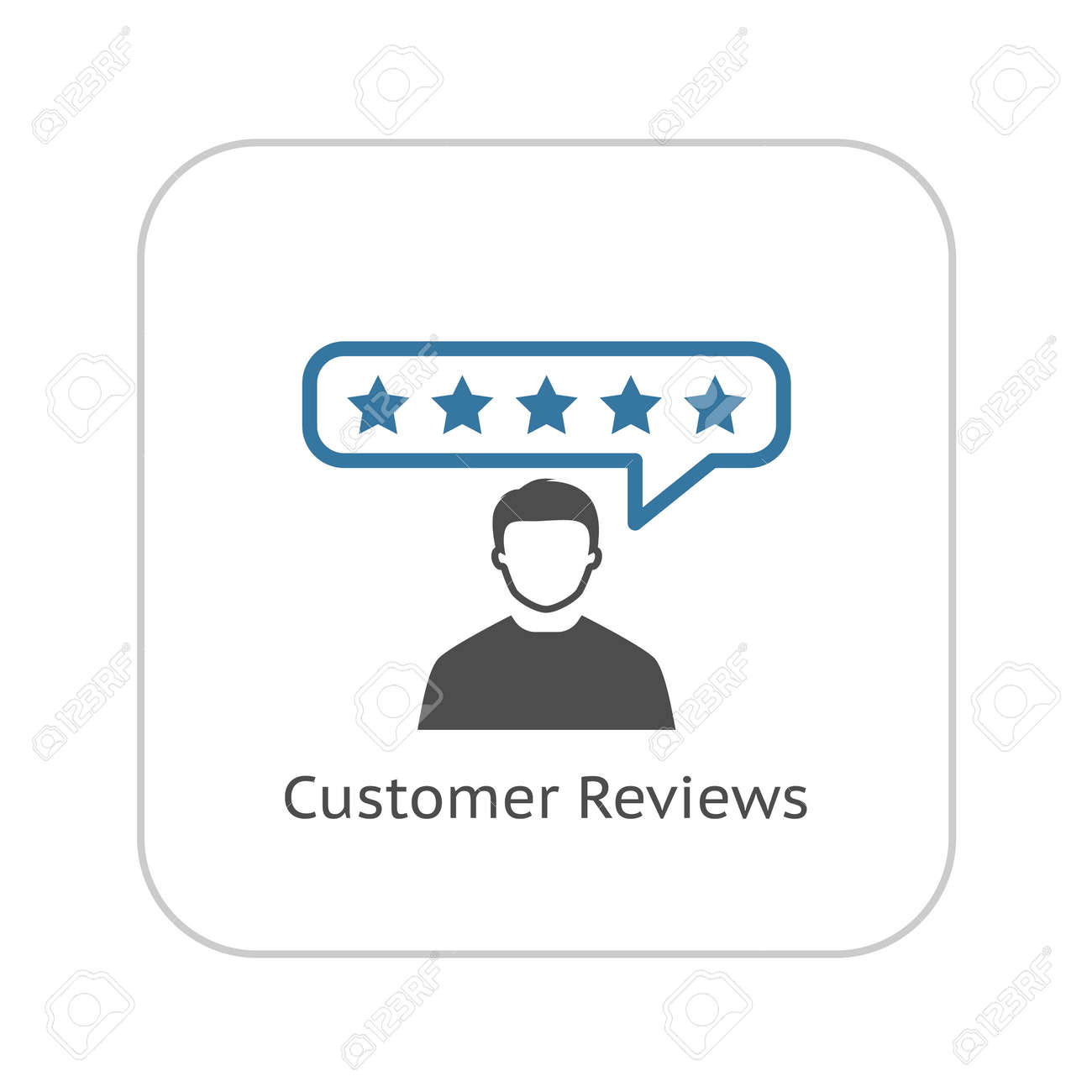 Customer Reviews Icon. Flat Design. Business Concept. Isolated Illustration. - 49754512