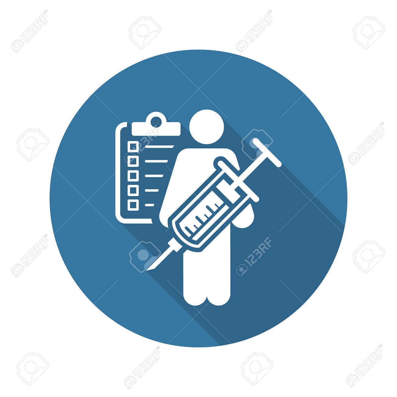 Vaccination and Medical Services Icon. Flat Design. Isolated. - 50448760