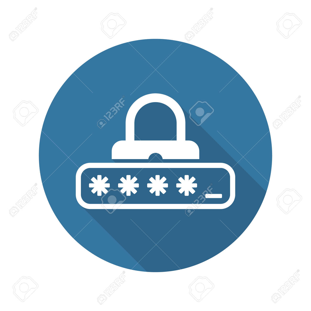 Password Protection Icon. Flat Design. Business Concept Isolated Illustration. - 53803441