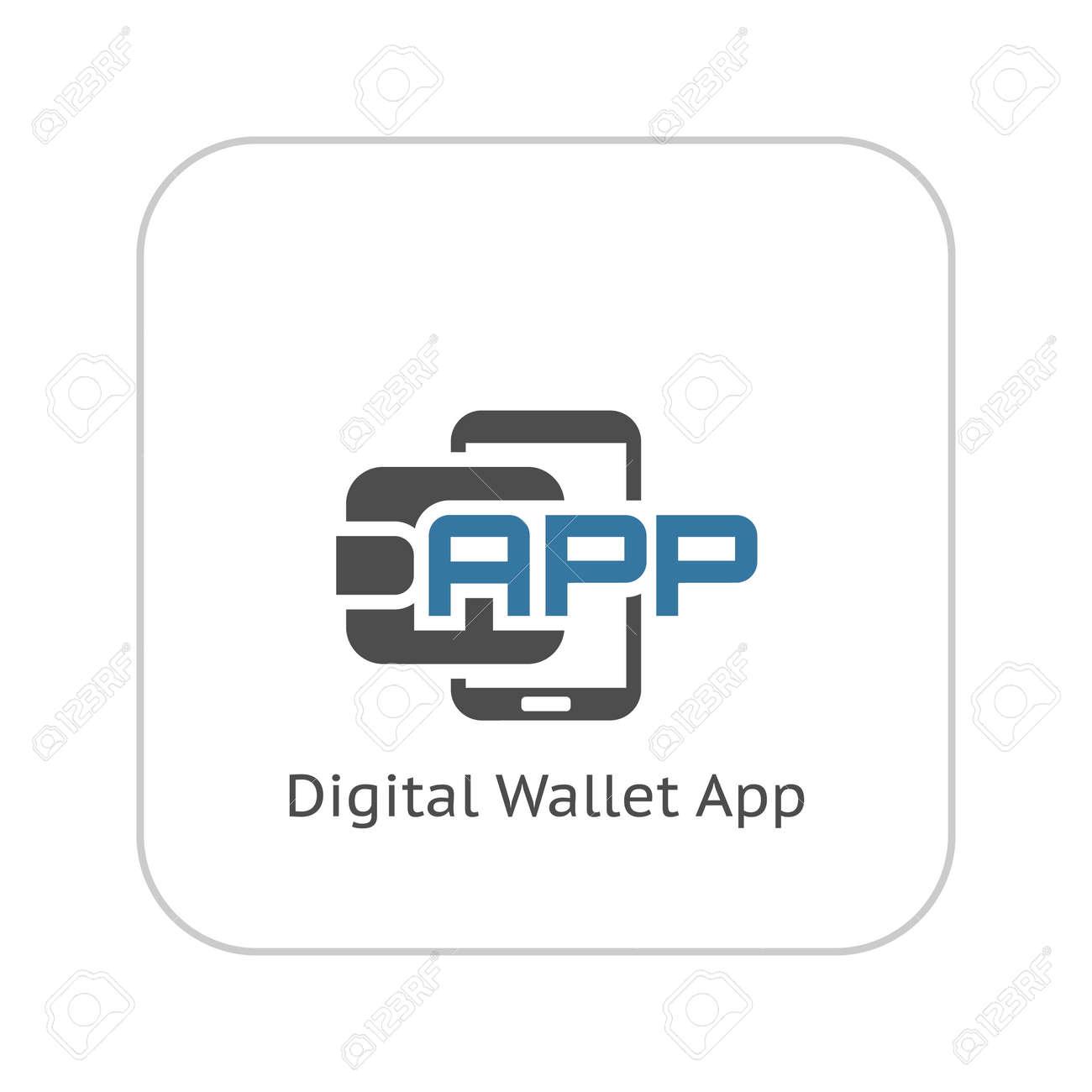 Modern Flat Digital Wallet APP Concept Illustration. Mobile Banking ...