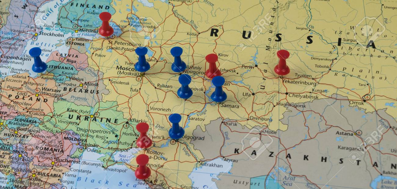 Moscow pinned with other world cup venue cities in a closeup moscow pinned with other world cup venue cities in a closeup map for football world cup gumiabroncs