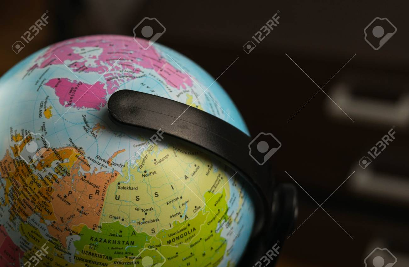 Earth globe map with focus on asia russia canada north pole stock earth globe map with focus on asia russia canada north pole stock photo gumiabroncs