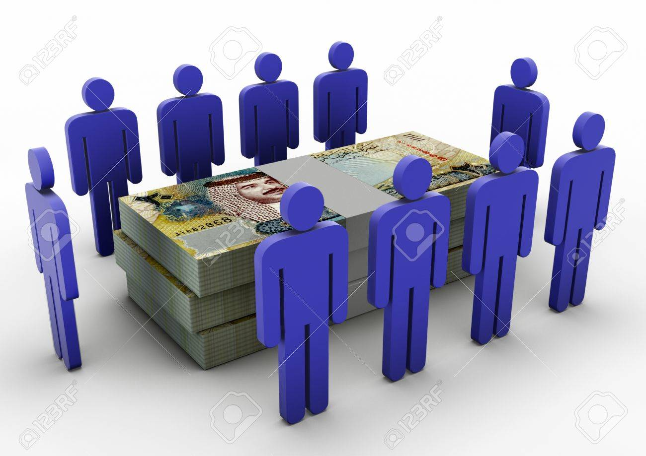 3D people gathering around Money Money Meeting Bahrain - 17010009