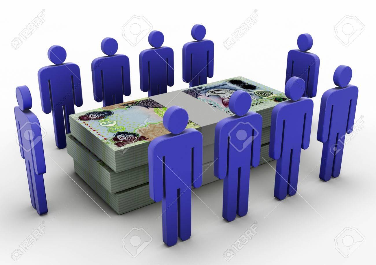 3D people gathering around Money Money Meeting UAE - 17010013