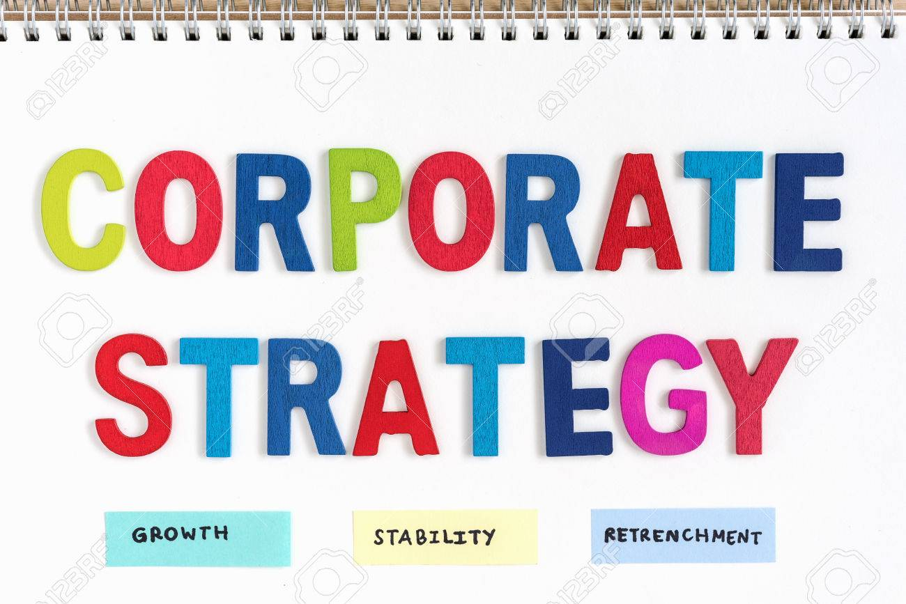 Colorful letters wood words corporate strategy growth stability colorful letters wood words corporate strategy growth stability retrenchment on open notebook top view spiritdancerdesigns Image collections