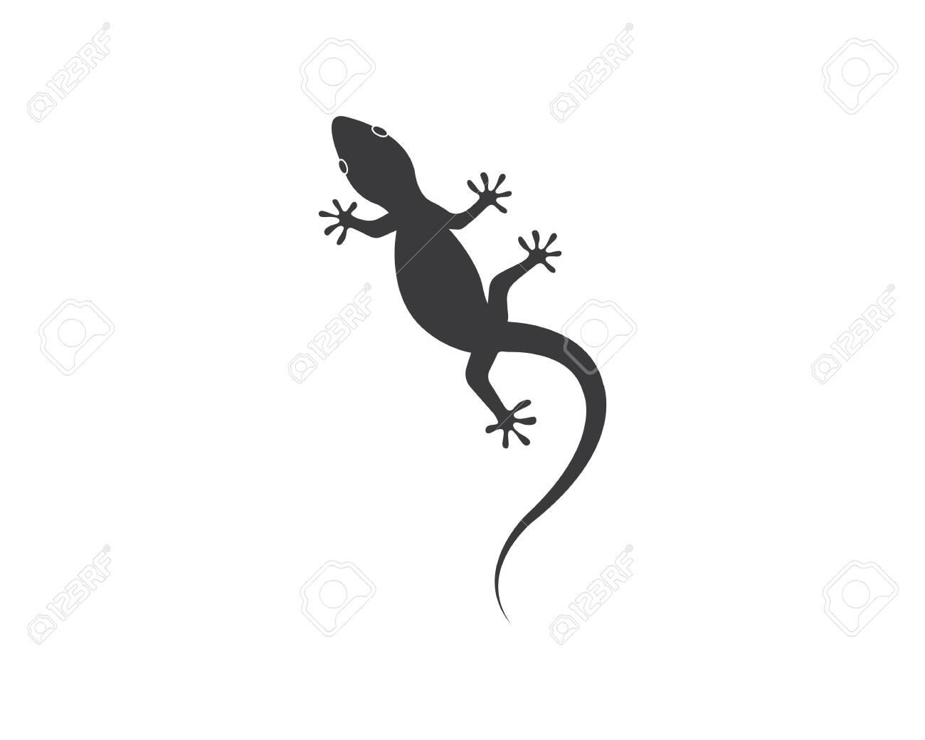 Lizard vector illustration logo template - 121102028