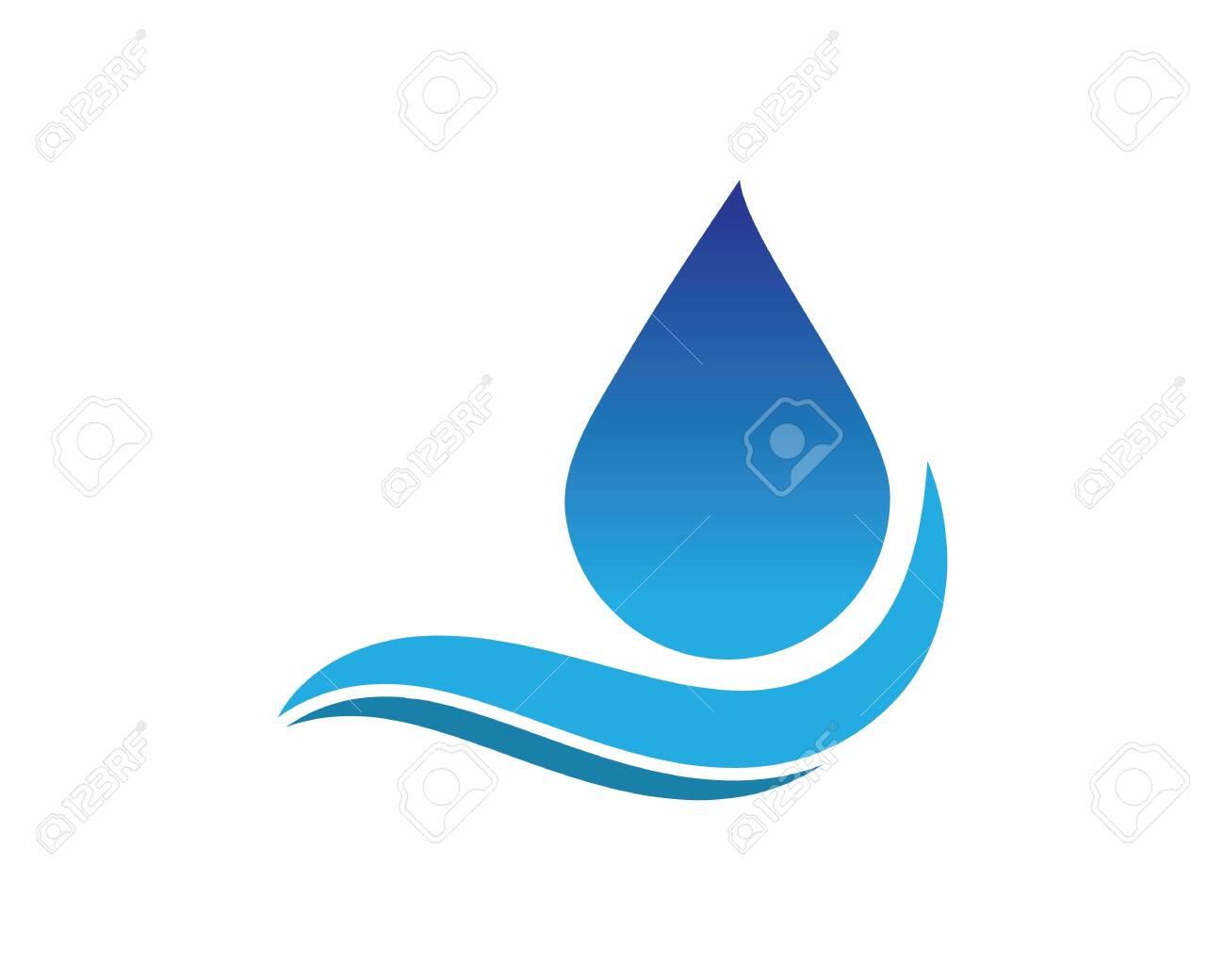 water drop Logo Template vector illustration design - 126471124