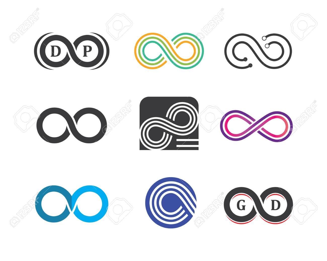 Infinity logo icon vector illustration design template - 136333897