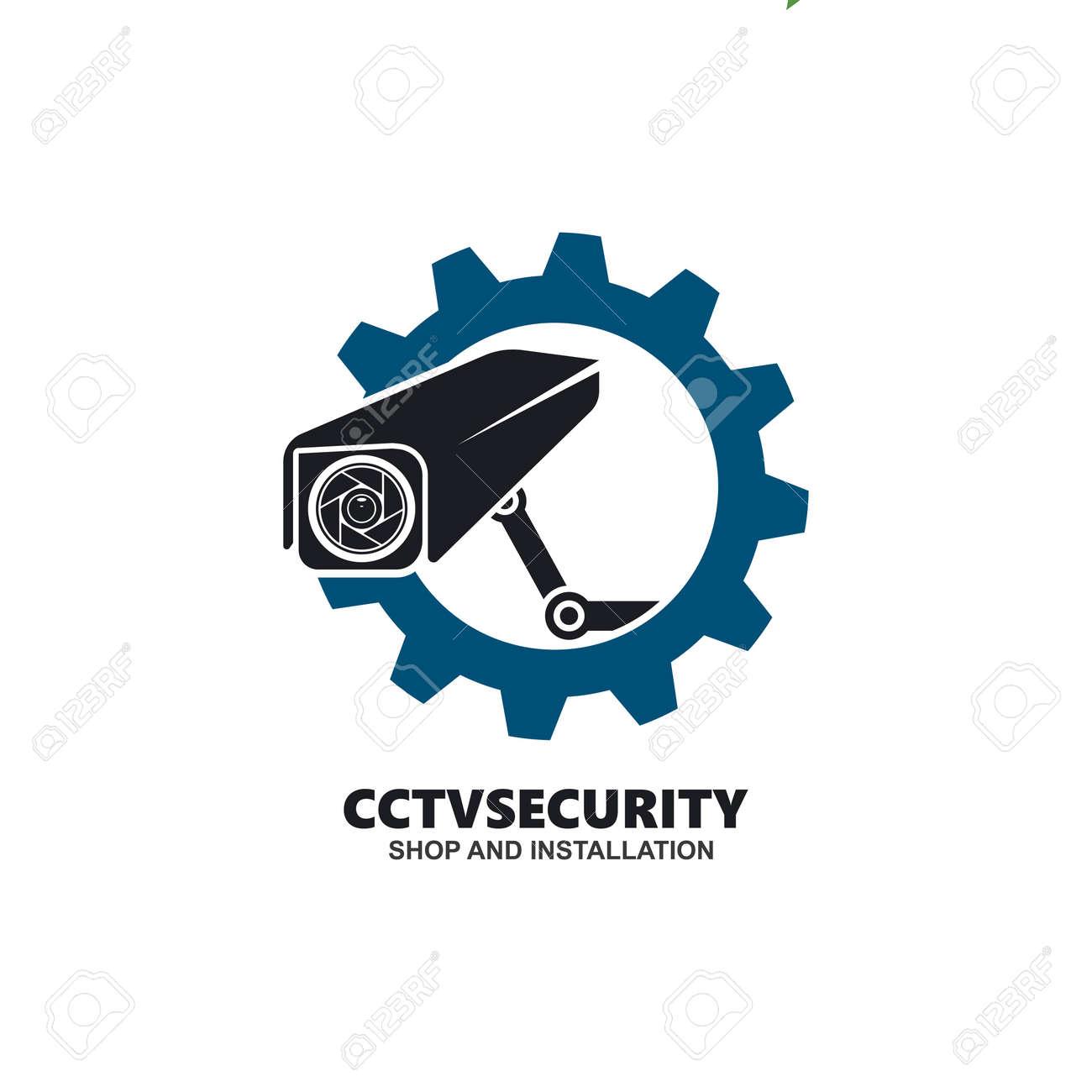 cctv gear icon vector illustration design template web - 159294760