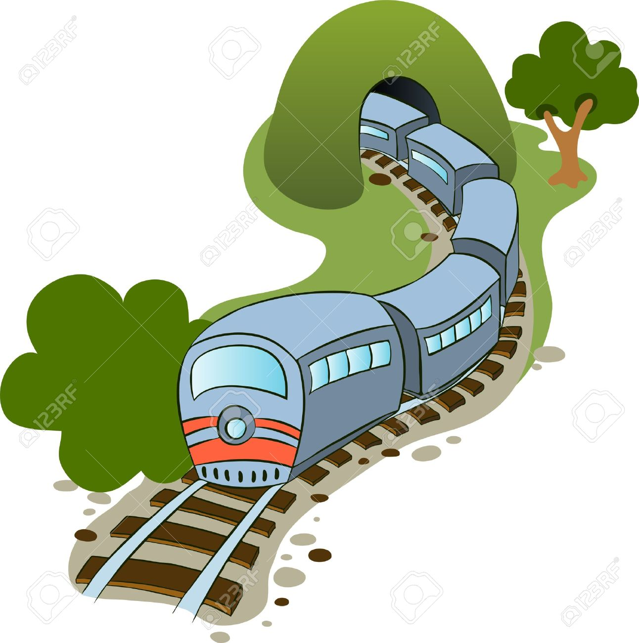 Illustration in a cartoon style  train Stock Vector - 16167032