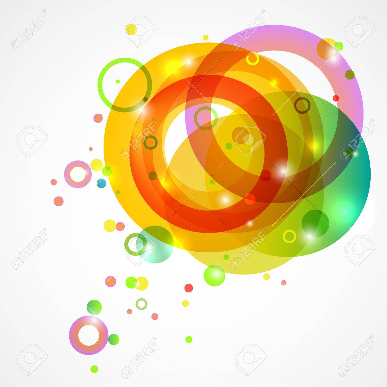 Bright colored circles on a white background Stock Vector - 18544930