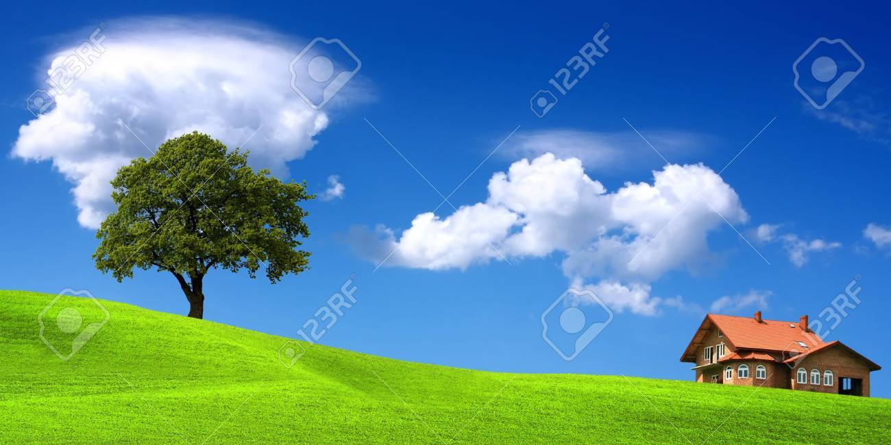 Ecological environment, new house landscape Stock Photo - 6032085