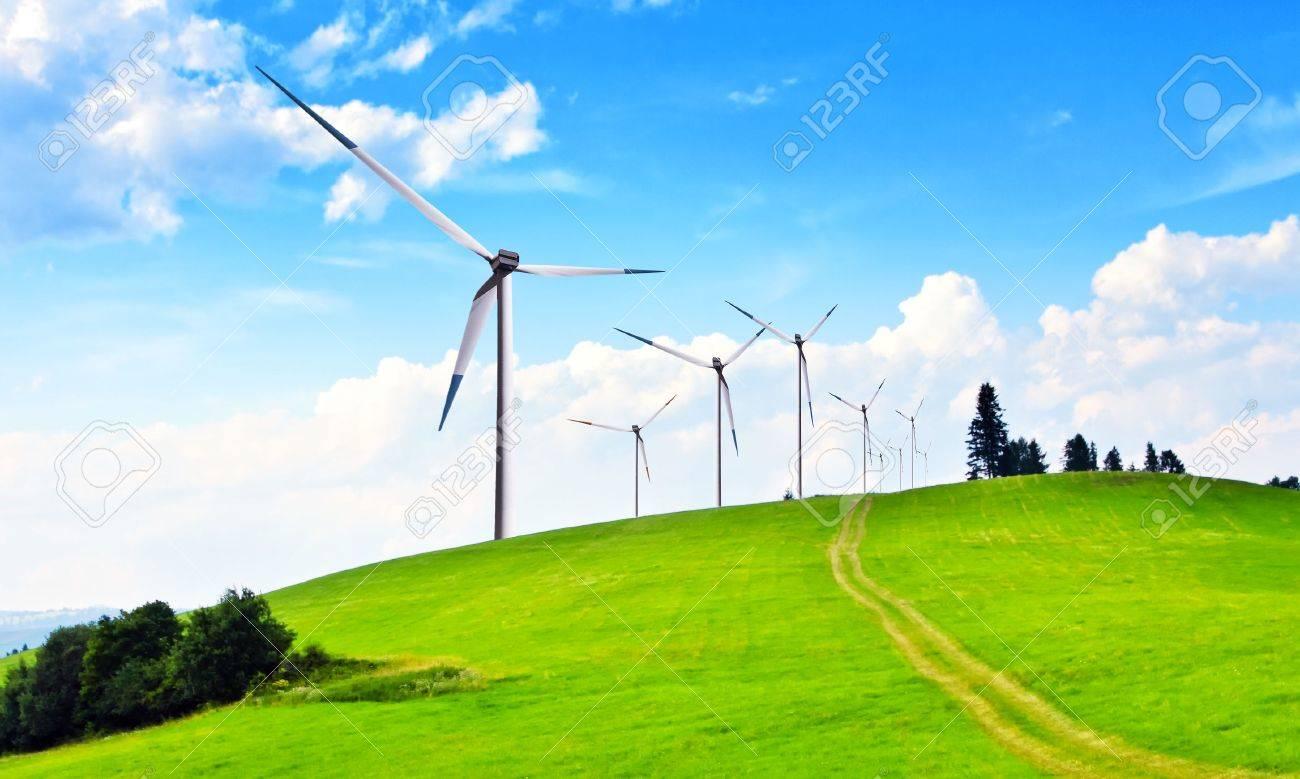 Wind turbines Stock Photo - 6846419