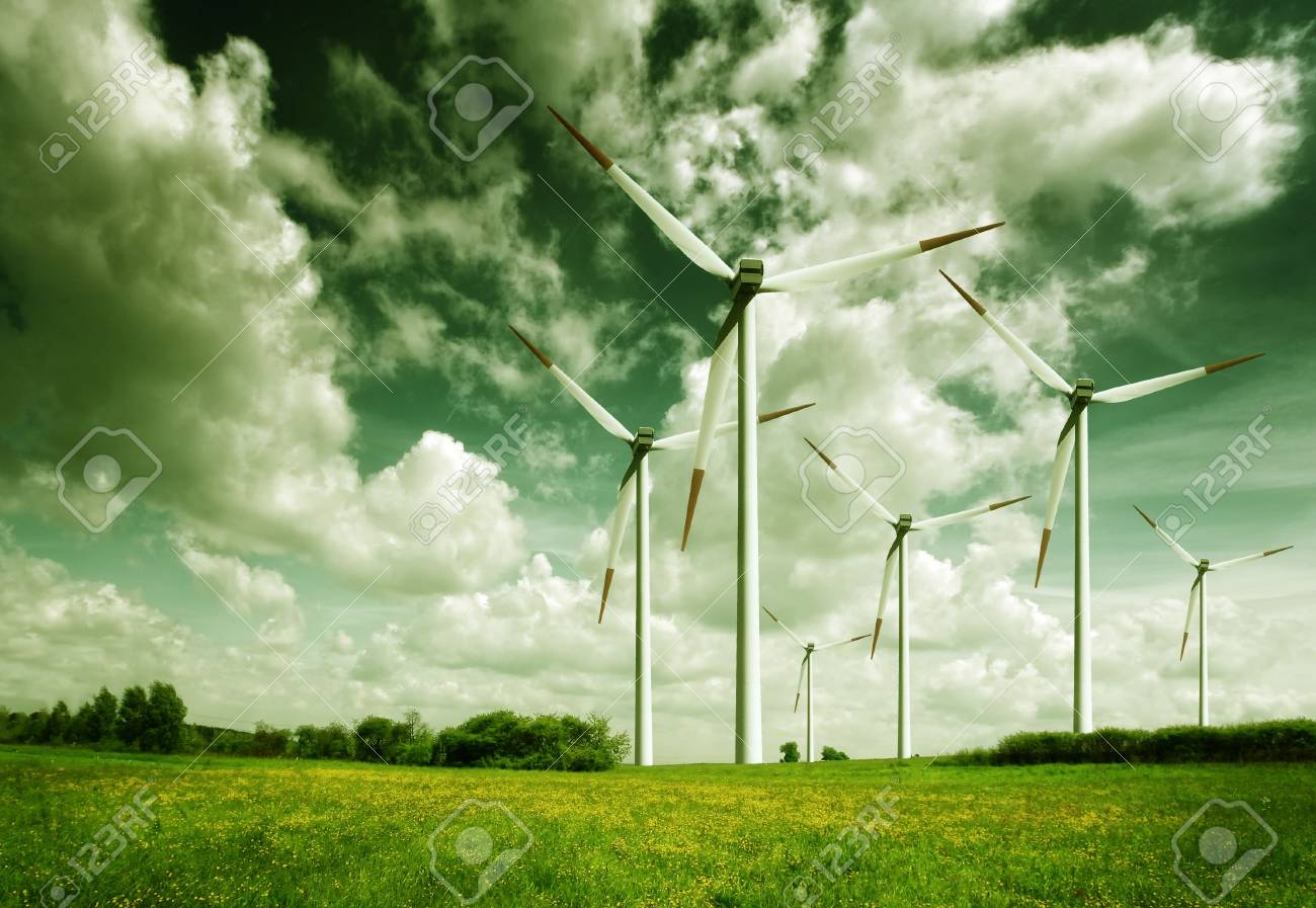 Wind turbines, ecology Stock Photo - 7441494