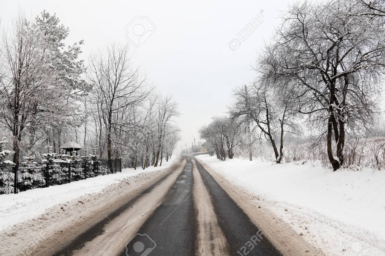 Winter Road Stock Photo - 8660859