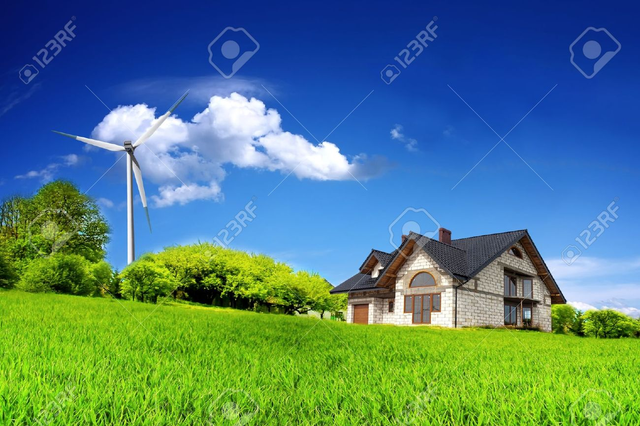 Eco House on a green hill Stock Photo - 8994449