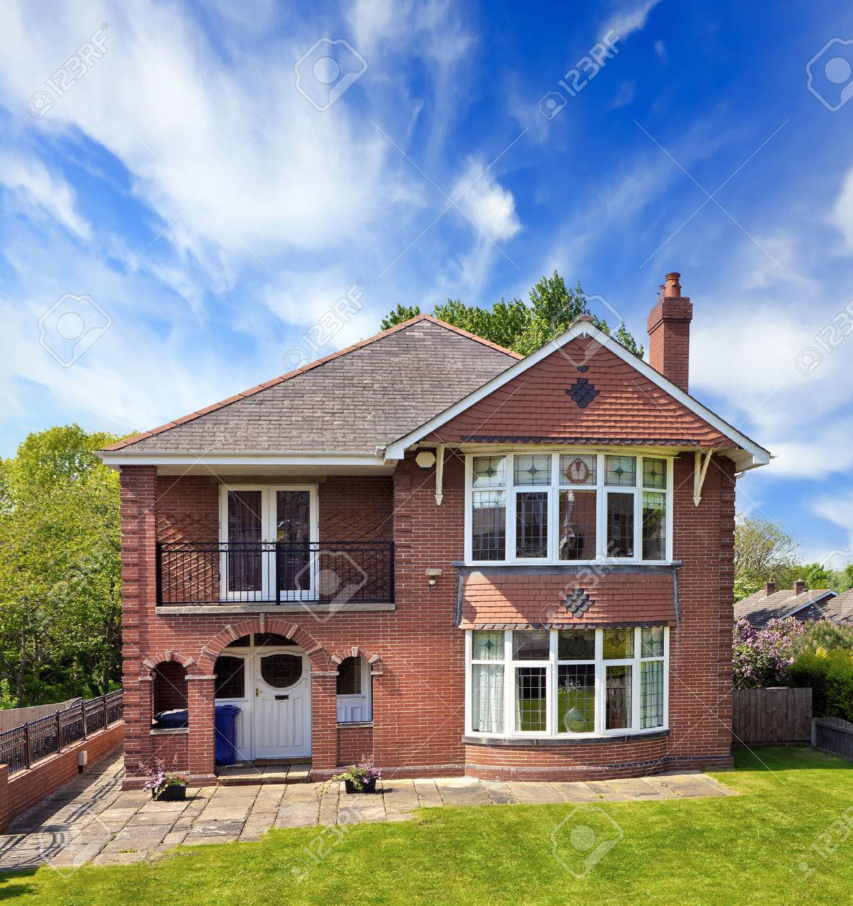 Typical Red Brick House Stock Photo, Picture And Royalty Free Image ...