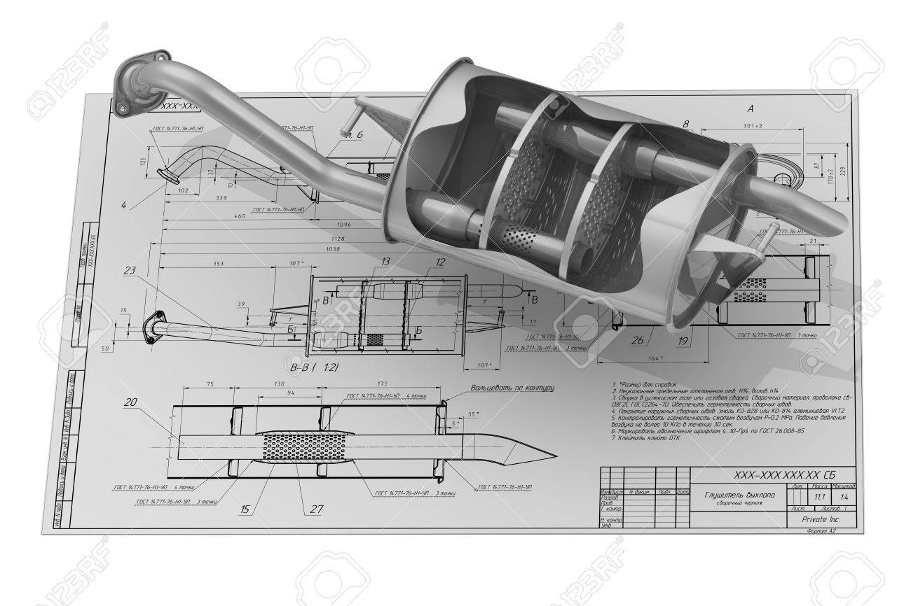 Car exhaust silencer on the drawing background stock photo picture car exhaust silencer on the drawing background stock photo 54005021 malvernweather Gallery