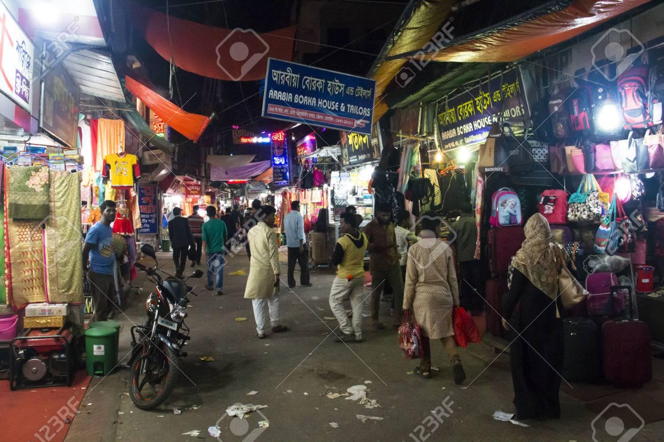 CHITTAGONG, BANGLADESH - FEBRUARY 2017: The central bazar market