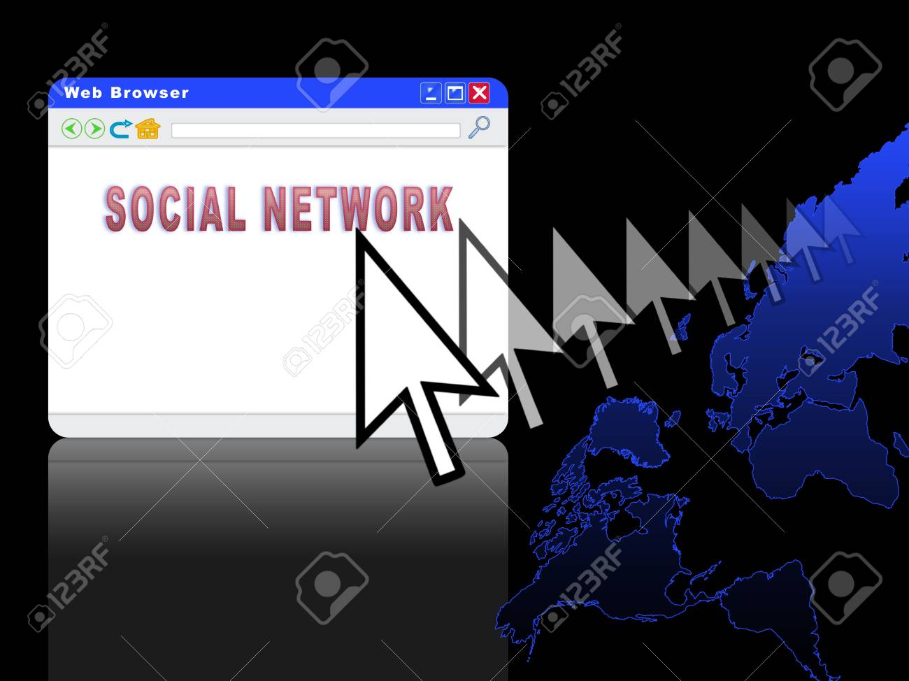 Conceptual image of global communication and social network Stock Photo - 5144113