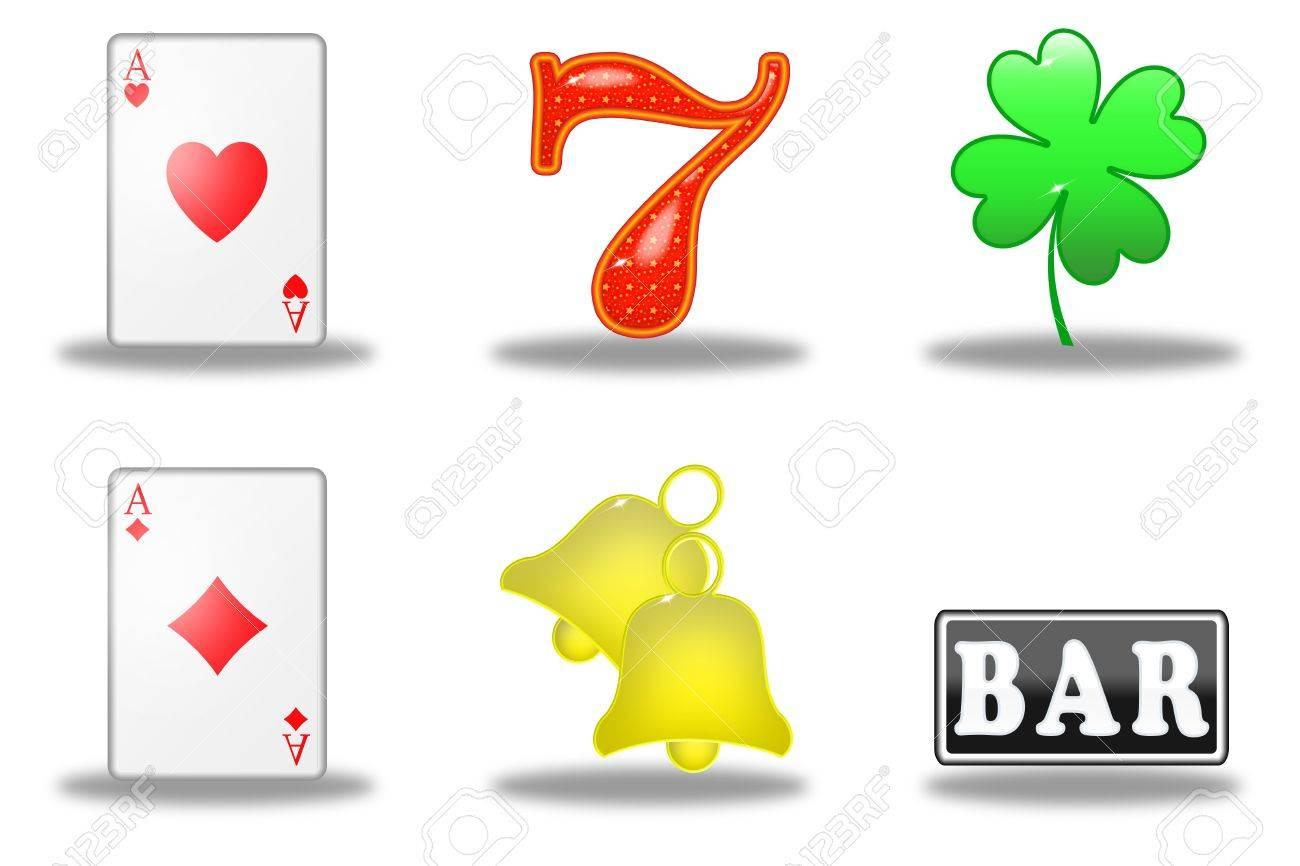 What are the symbols on a slot machine vector slot machine symbols set stock photography biocorpaavc