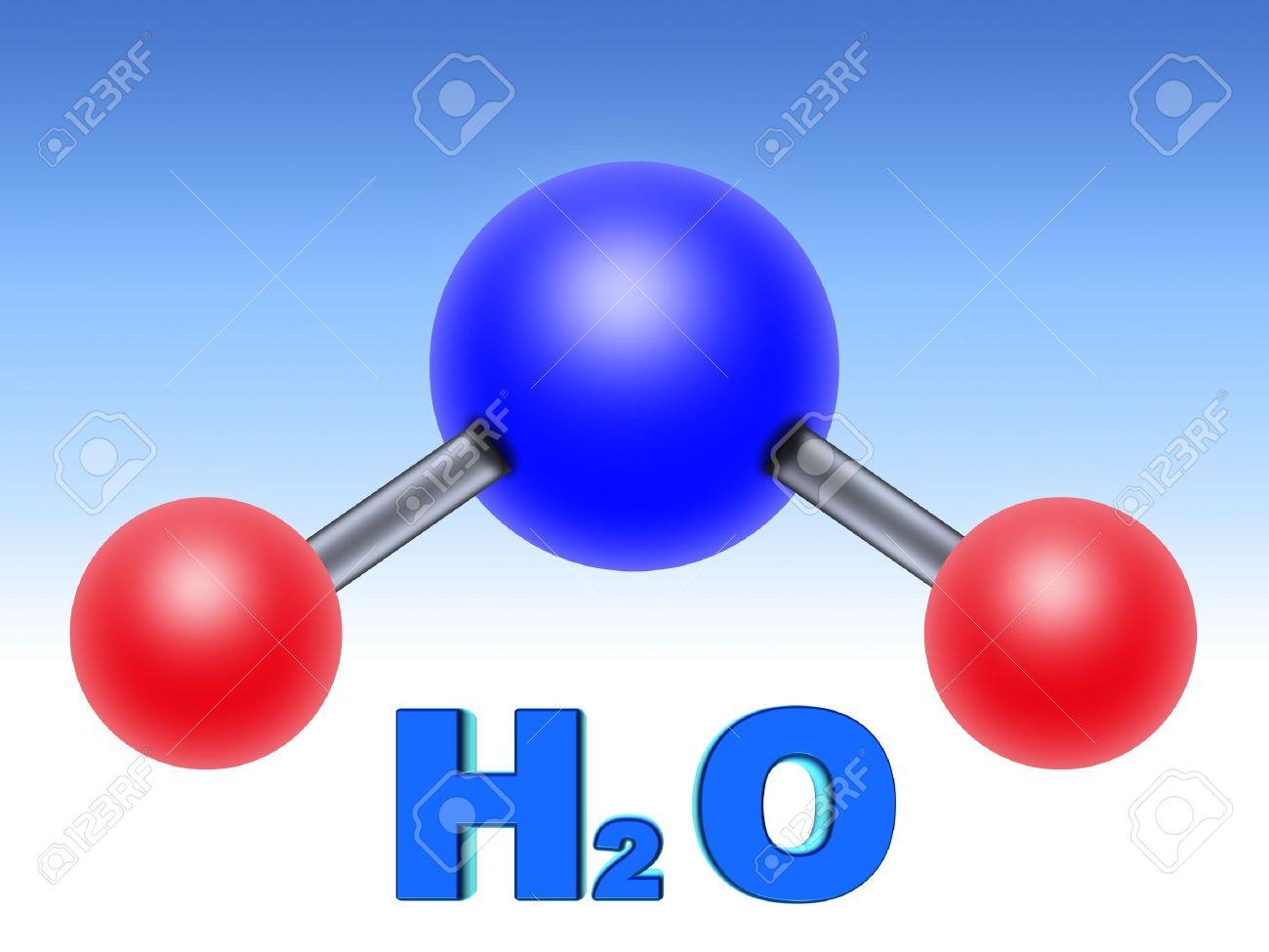 Estructura Molecular Del Agua Dos Partes De Hidrógeno Una Parte De Oxígeno